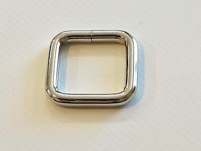 Square ring x 10 welded steel 25mm x 25mm x 4mm horse rugs dog collars leads