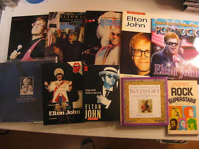 Elton John mini library of 10 biographical books SUPER collection 1975-2008
