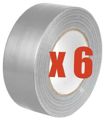 6x BIG SILVER GAFFA GAFFER DUCT TAPE 50m x 50mm Strong Waterproof