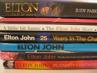 Elton John mini library 7 biographical hardcover coffee table books collection