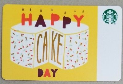 Collectible Starbucks Gift Cards - 2018 Happy Cake Day - Diamond