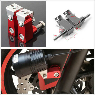 1 Pair High Quality Motorcycle Fog Lights Bracket Modified Holder Red For Yamaha