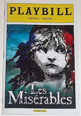 Les Miserables Broadway Playbill, Opening Night Date (March 2014)