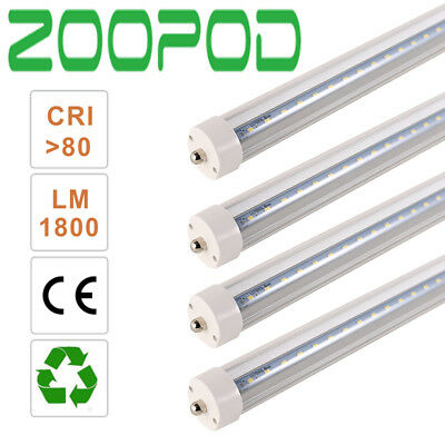 8FT LED Tube Light Single Pin 36W FA8 6500K T8 Fluorescent Replacement Forsted
