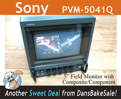 "Sony Trinitron 5"" Color Video Field Monitor model PVM-5041Q - With 16:9 & 4:3!!"