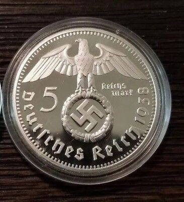 WW2 WWII German Miltary Leader Coin War Germany Collection Collector 1938