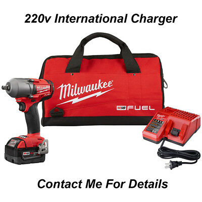 Milwaukee 2860-21 M18 FUEL 1/2 Mid-Torque Impact Wrench Kit 5.0 AH Bag 220V NEW!