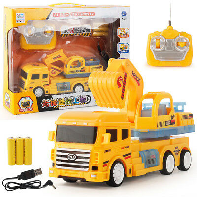 1:24 New RC Truck Car Excavator Remote Control 4CH Toys Gift For Kids