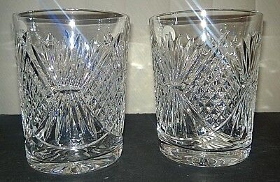 Waterford Crystal Thanksgiving Tumblers NIB-1 Pair! Made in Ireland!
