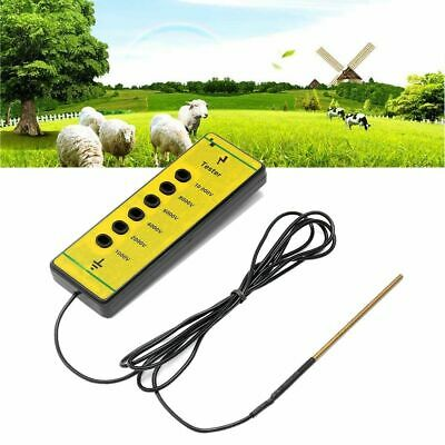 Electric Fence Voltage Tester Farm Testing Pen Fencing Energiser Poly Wire Tools