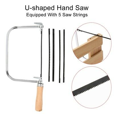 New Cutting Tool U-shaped Loaf Cutter Saw Wooden Handle With 5 Hand Saw Strings