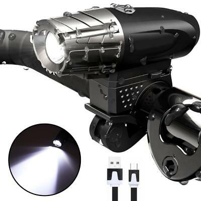 Bright USB Rechargeable LED Bicycle Bike Front Headlight and Rear Tail Light Set