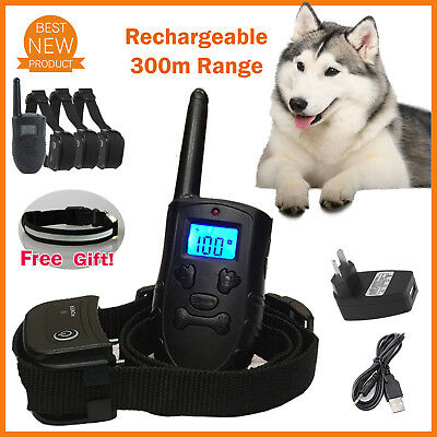 Rechargeable Anti Bark Dog Training Collar Stop Barking Safe Pet Trainer + Gift