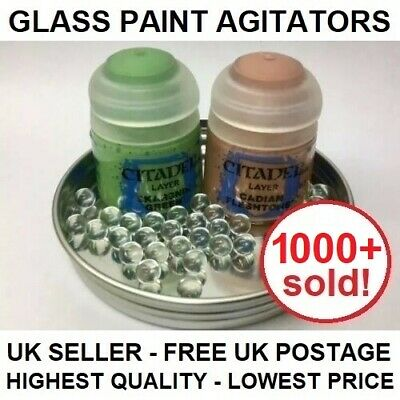 Glass Paint Agitators - citadel army painter vallejo games workshop mixing ball