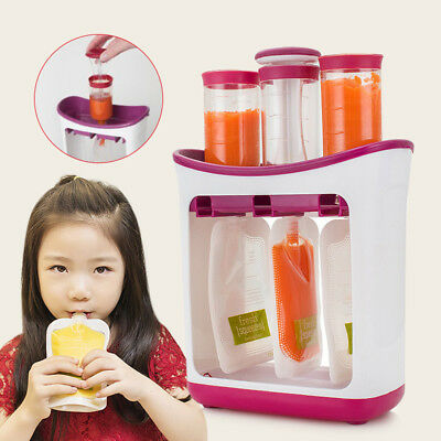 Squeeze Food Station Baby Food Snacks Organization Storage Containers Maker Set
