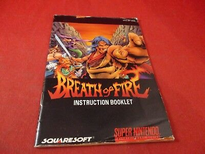 Breath of Fire I Super Nintendo SNES Instruction Manual Booklet ONLY #B1