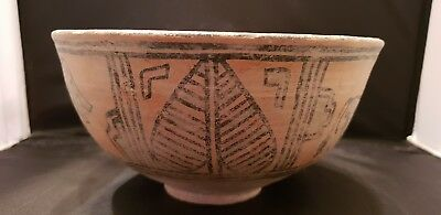 Indus Valley large Mehrgarh Painted Storage Vessel with Zebu  3rd millennium BC