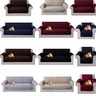 Reversible Sofa Couch Cover 1/2/3/4 Seater Pet Dog Kids Mat Furniture Protector