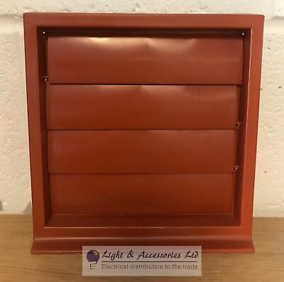 External Ventilation Grill Cover Outlet for Extractor Fan 4 Inch Terracotta