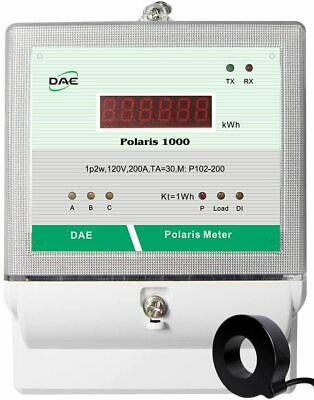 DAE P102-200-S KIT UL, kWh Submeter, 1P2W(1 hotwire,1 neutral), 200A, 120V, 1 CT