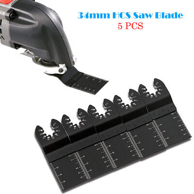 New 5Pcs Universal 34mm Carbon Steel Multi Tool DIY Oscillating Saw Blade Cutter