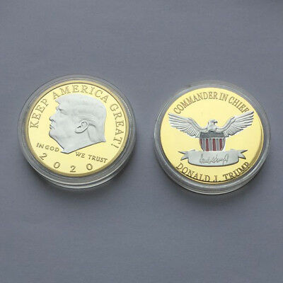 US President Donald Trump 2020 KEEP AMERICA GREAT Silver&Gold Challenge Coin EP
