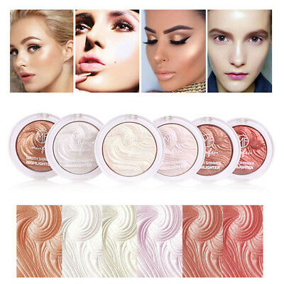 6 Colors Makeup Face Highlighter Powder Palette High Glitter Glow Foundation