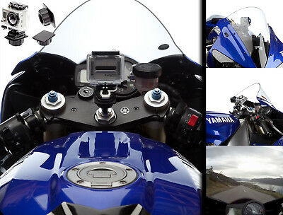 15-17.2 Motorcycle Centre Fork Stem Mount + Flat Adapter for GoPro HD HERO 3 HD3