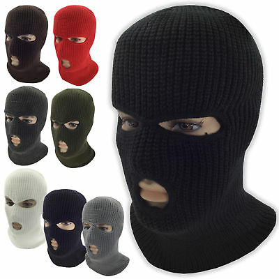 3 Hole Full Face Mask Ski Mask Winter Cap Balaclava Hood Army Tactical Mask AU