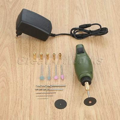 12V AC Grinding Polishing Accessories Power Mini Electric Drill Grinder 1 Set