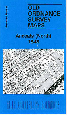 OLD ORDNANCE SURVEY MAP Ancoats (North) 1848: Manchester Large Scale Sheet 25
