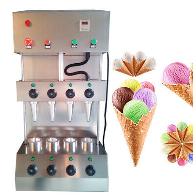Durable Pizza Cone Forming Maker Machine w/ Rotational Pizza Oven 2.6KW Store ce