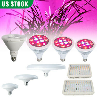 9/12/20/24/1000/12000W LED UFO Plant Grow Bulb Light Lamp Full Spectrum Indoor