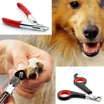 Pet Dog Cat Stainless Steel Nail Toe Claw Clippers Trimmers Cutter Scissors Tool