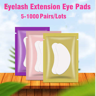 5-2000 Pairs Eyelash Lash Extension Under Eye Gel Pads Lint Free Eye Patches Pad