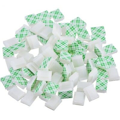 100 Pieces Self Adhesive Cable Clips Wire Clips Cable Management Cable Tie Wire