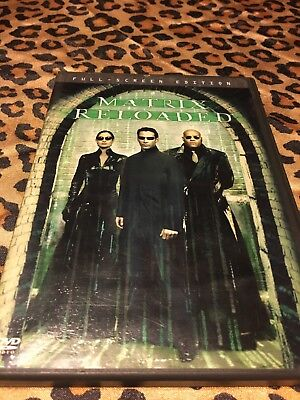 The Matrix Reloaded (2003 Full Screen 2-Disc DVD) Keanu Reeves SHIPS RIGHT NOW!