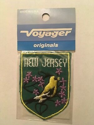 Vintage Voyager State of New Jersey Eastern American Goldfinch Patch NIP