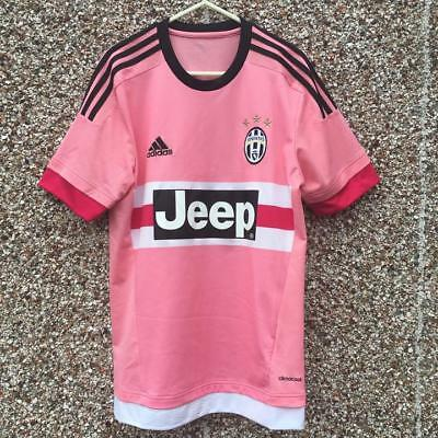Authentic Juventus 2015 2016 Away Pink Football Shirt Drake Adult Small Official