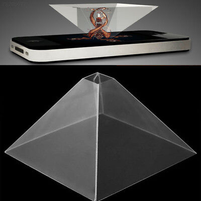 "9D5D 3D Holographic Hologram Display Stand Projector For 3.5-6.5"" Mobile Phone^"