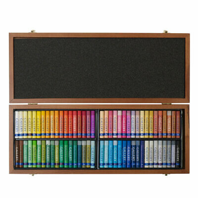 Inscribe Gallery Artists Oil Pastels Wooden Box Set of 72 Assorted Colours