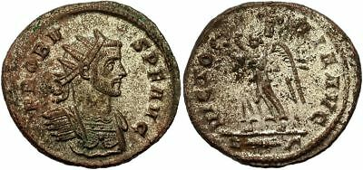 FORVM Probus Silvered Antoninianus Victory Marching Left Raising Wreath aEF