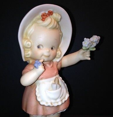 FORGET ME NOT S0106 Memories of Yesterday  MINT NIB Girl with Flowers