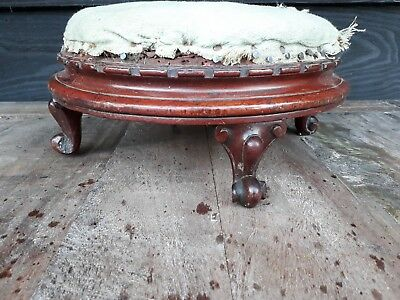 Small Victorian Footstool Upholstery Project