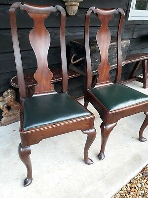A Pair Of Early Georgian Dining Side Chairs Superb Chippendale 18th Century