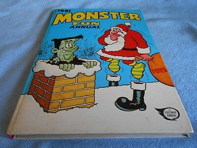 Vintage UK Annual - MONSTER FUN Annual - 1981