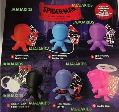 MCDONALDS 2018 SPIDER-MAN Into the Spider-Verse - COMPLETE SET OF 6 - ON HAND