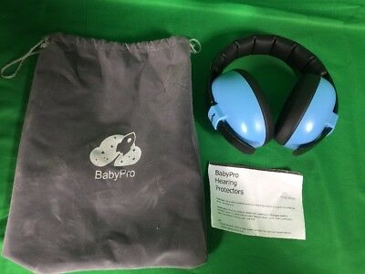BabyPro Baby Ear Muffs Hearing Protection - Sky Blue