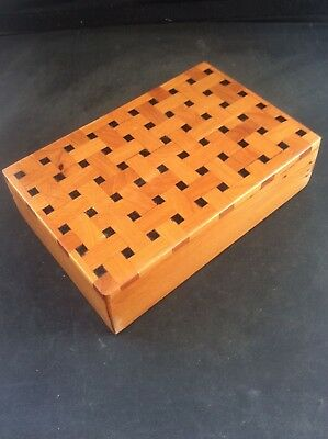 Fabulous Hardwood Inlaid Wood Marquetry Parquetry Wooden Jewellery Trinket Box 3