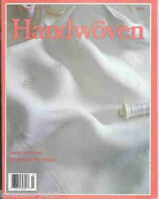 Handwoven magazine mar/apr 1992: lace weave, baby blanket, 8-shaft, blankets ++